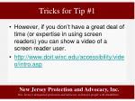 tricks for tip 11