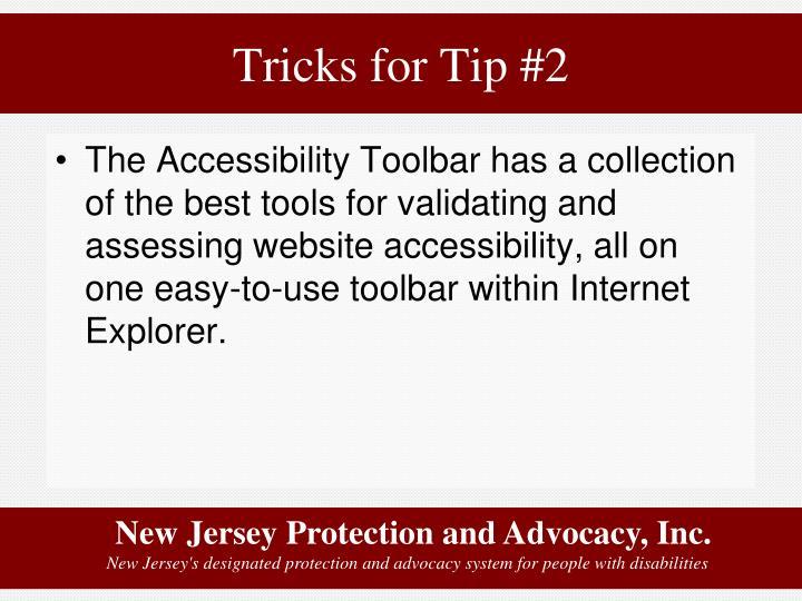 Tricks for Tip #2