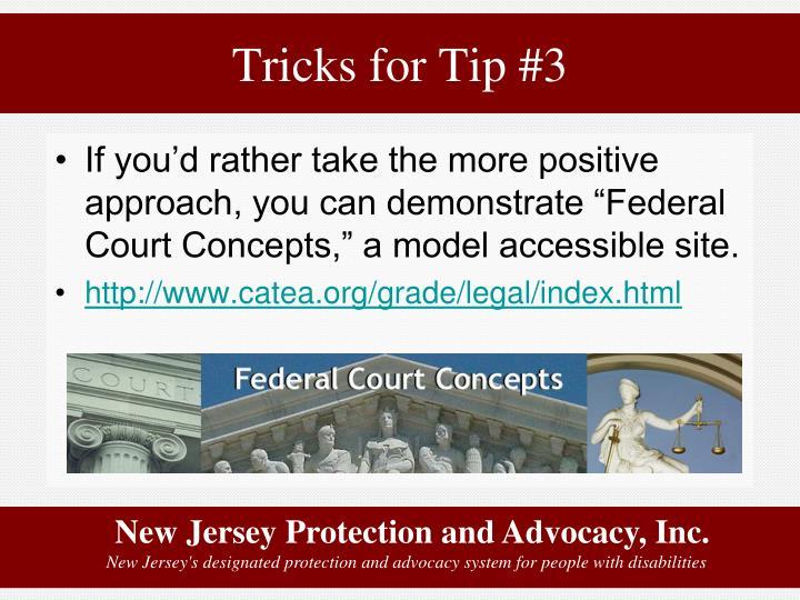 Tricks for Tip #3