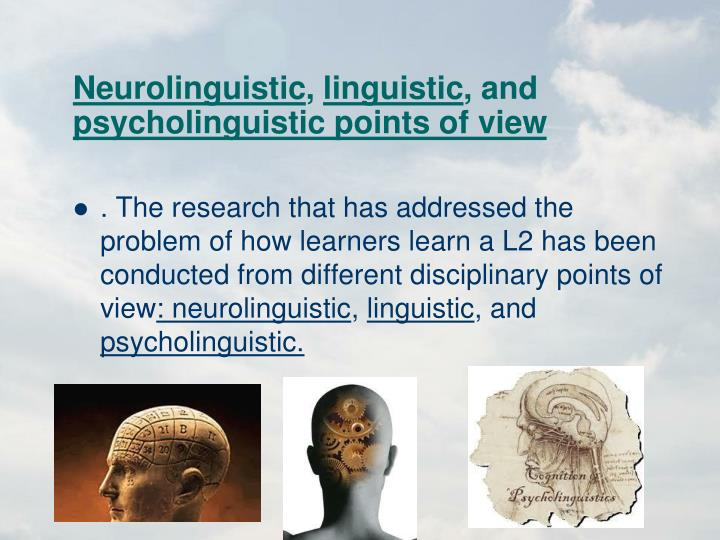 Neurolinguistic
