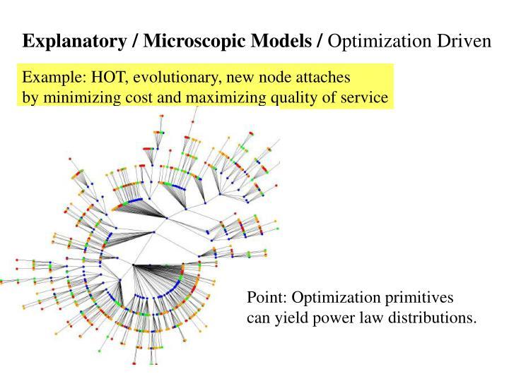 Explanatory / Microscopic Models /