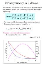 cp assymmetry in b decays