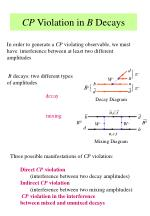 cp violation in b decays