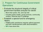 2 prepare for continuous government operations