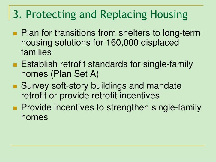 3. Protecting and Replacing Housing