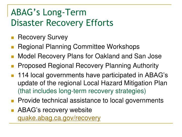 ABAG's Long-Term