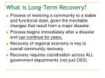 what is long term recovery