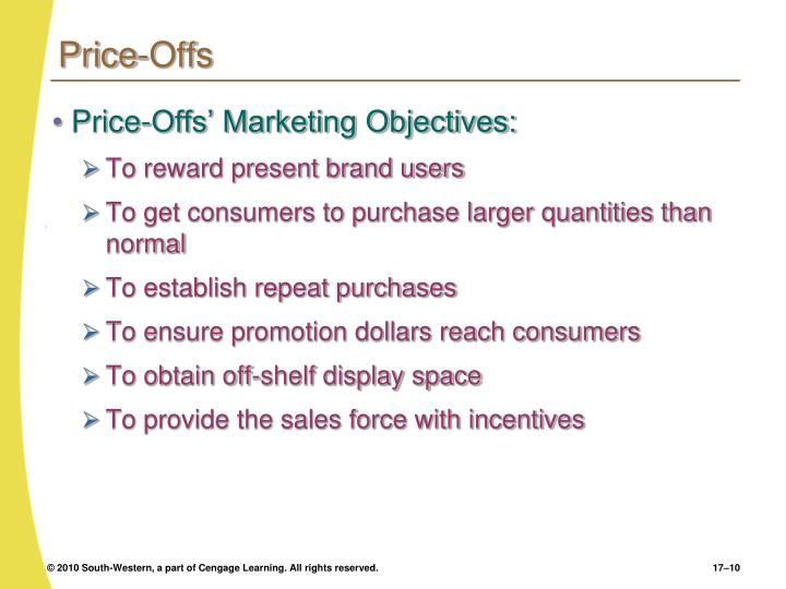 Price-Offs