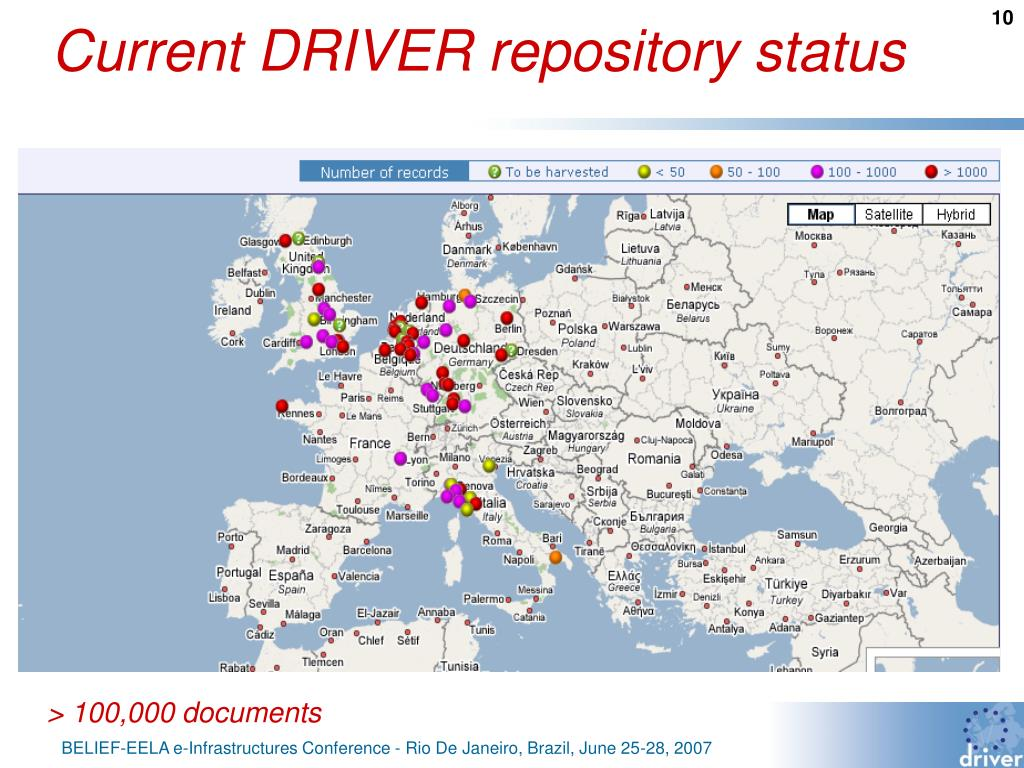 Current DRIVER repository status