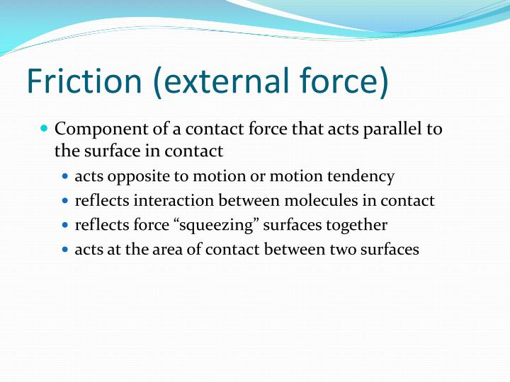 Friction (external force)