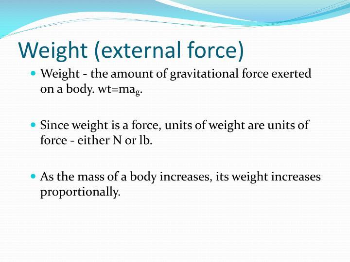 Weight (external force)