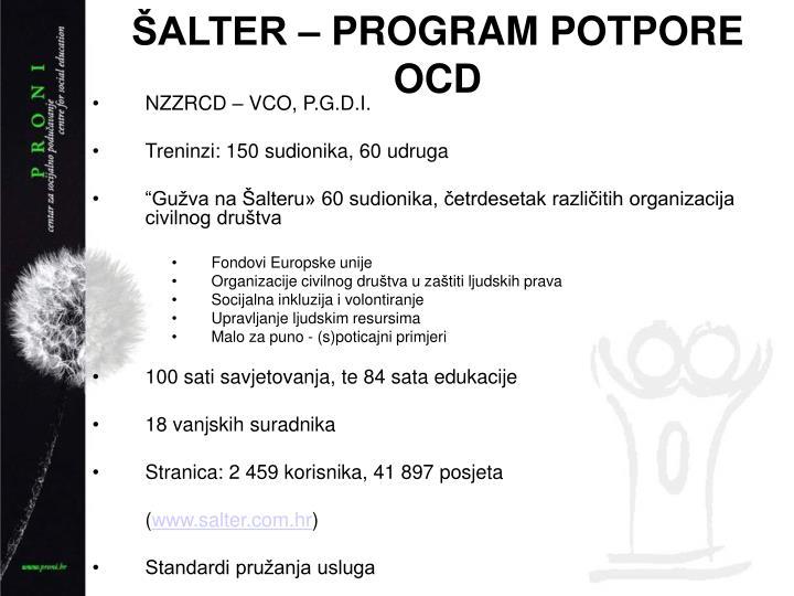 ALTER  PROGRAM POTPORE OCD