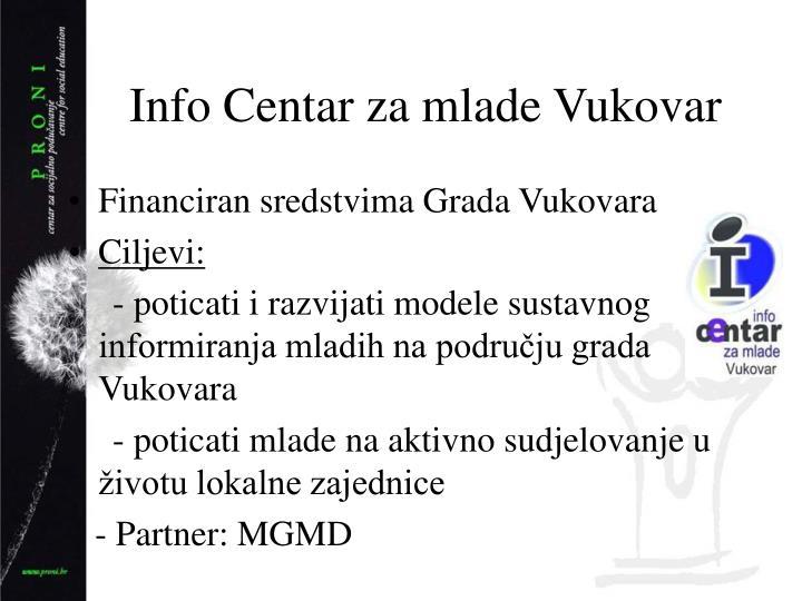 Info Centar za mlade Vukovar