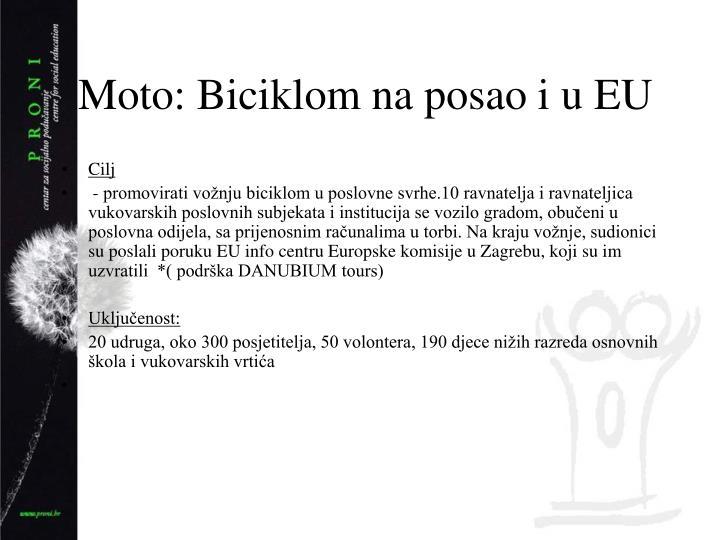Moto: Biciklom na posao i u EU