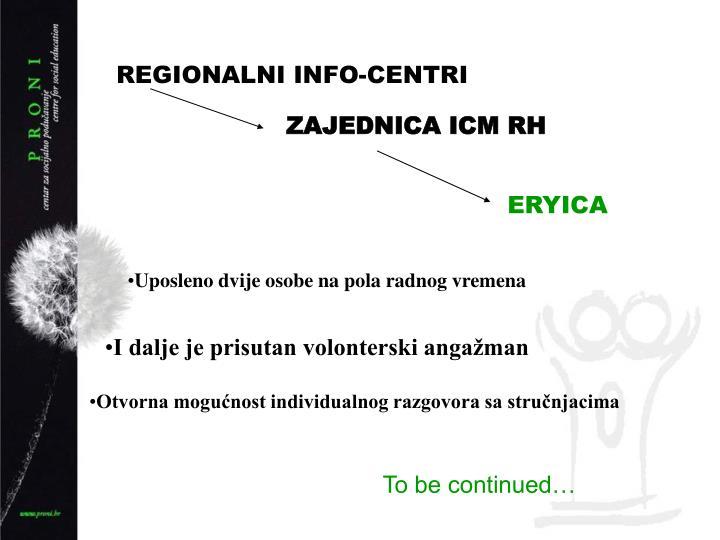 REGIONALNI INFO-CENTRI