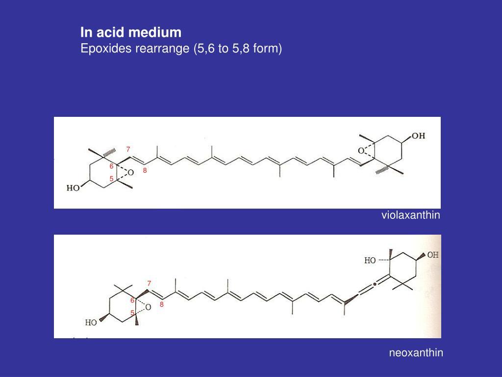 In acid medium