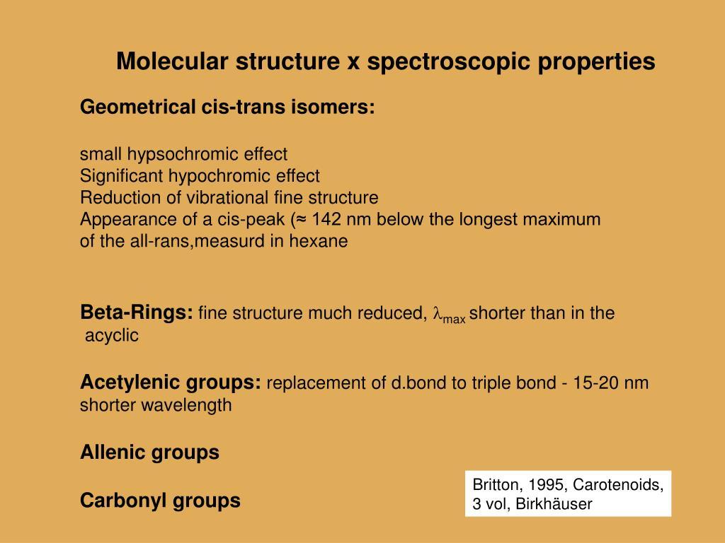 Molecular structure x spectroscopic properties