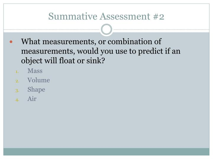 Summative Assessment #2