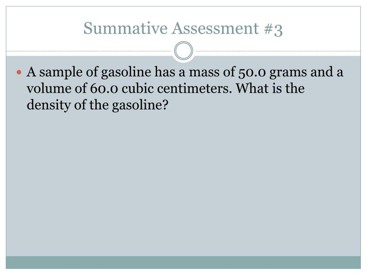 Summative Assessment #3