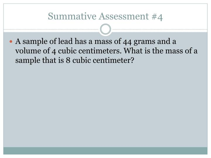 Summative Assessment #4