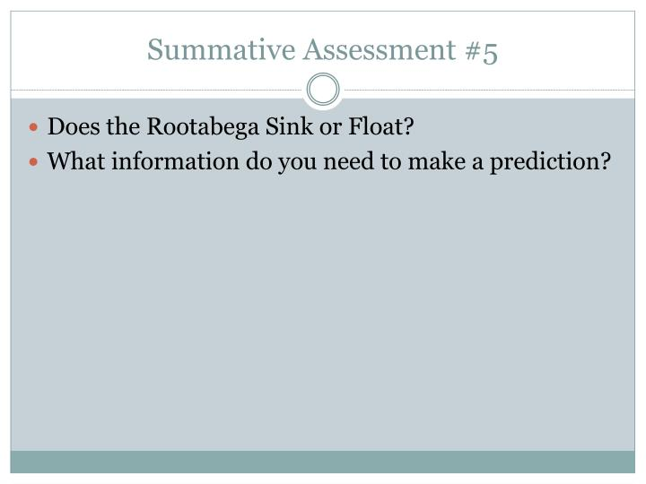 Summative Assessment #5