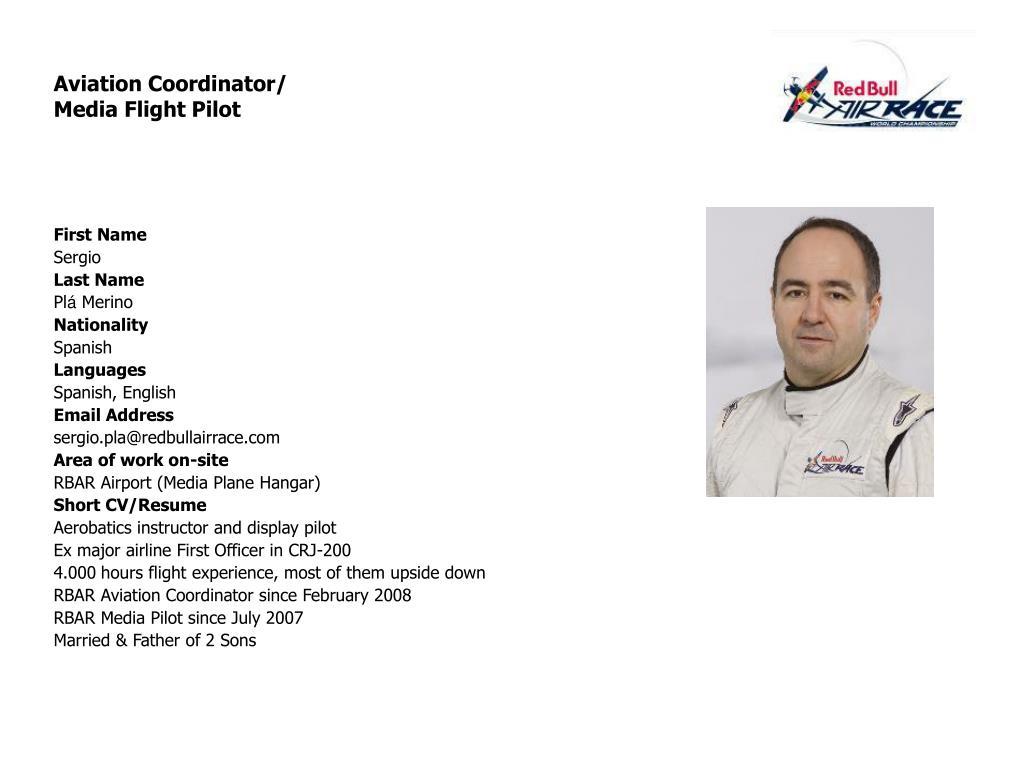 Aviation Coordinator/