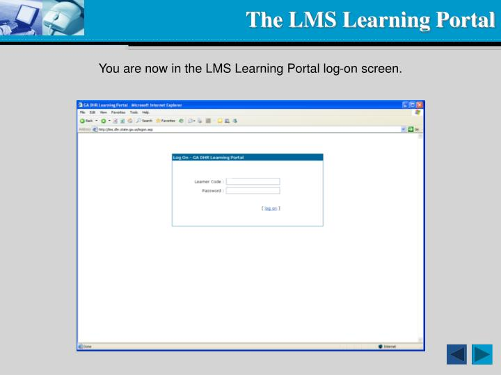 The LMS Learning Portal