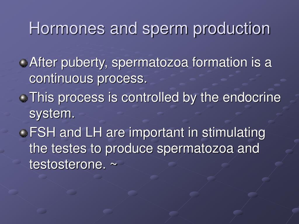 Hormones and sperm production