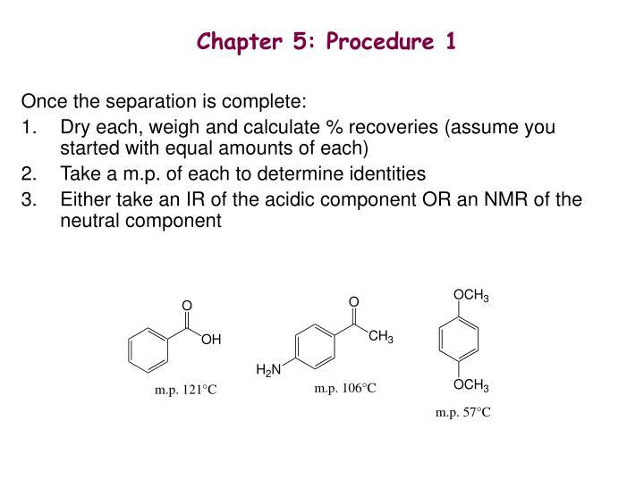 Chapter 5: Procedure 1