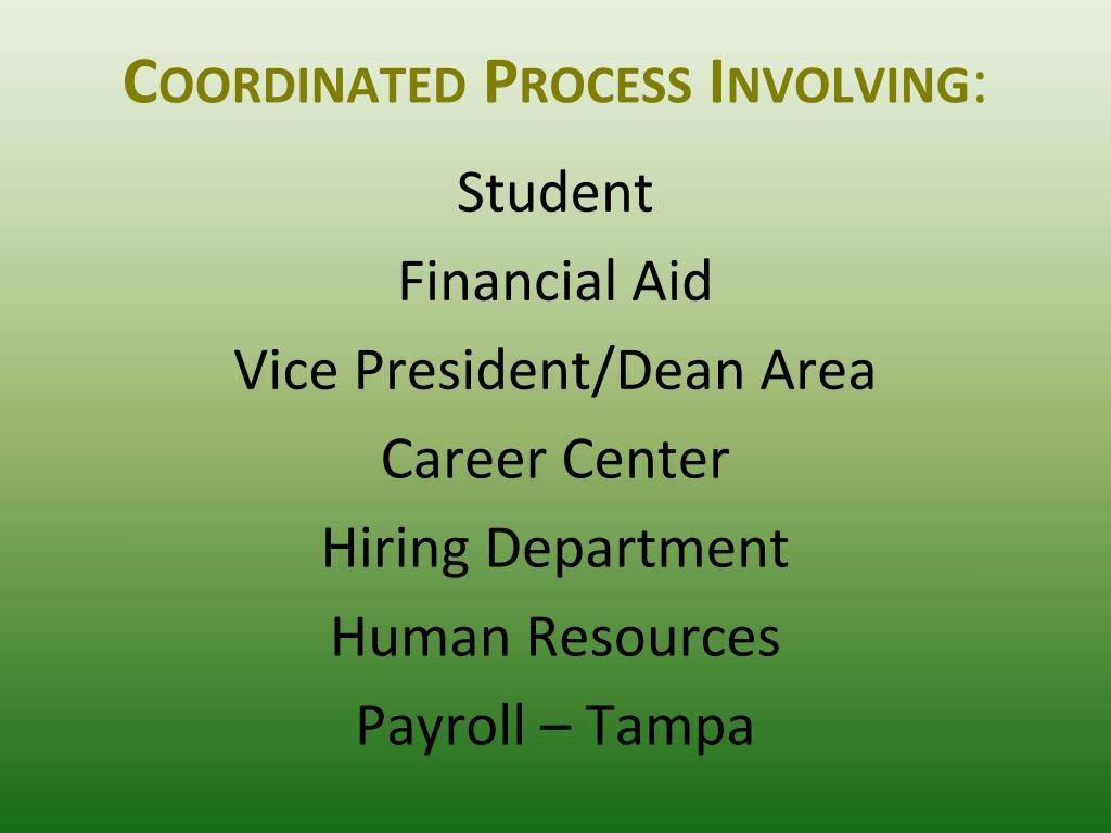 Coordinated Process Involving