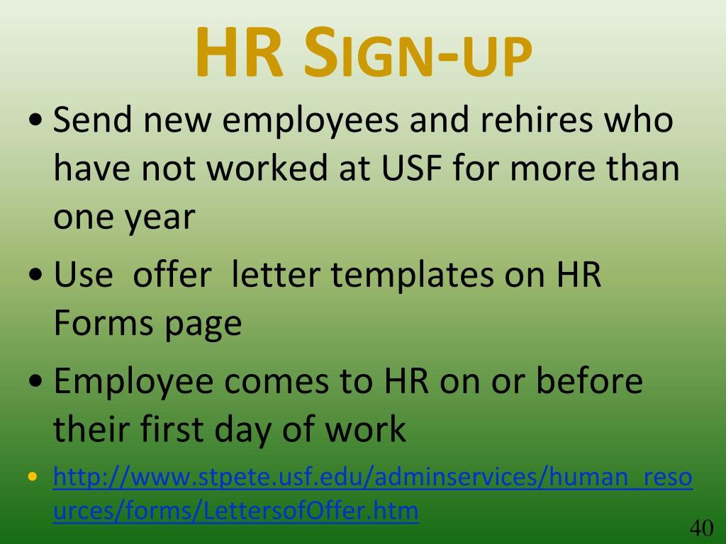 HR Sign-up