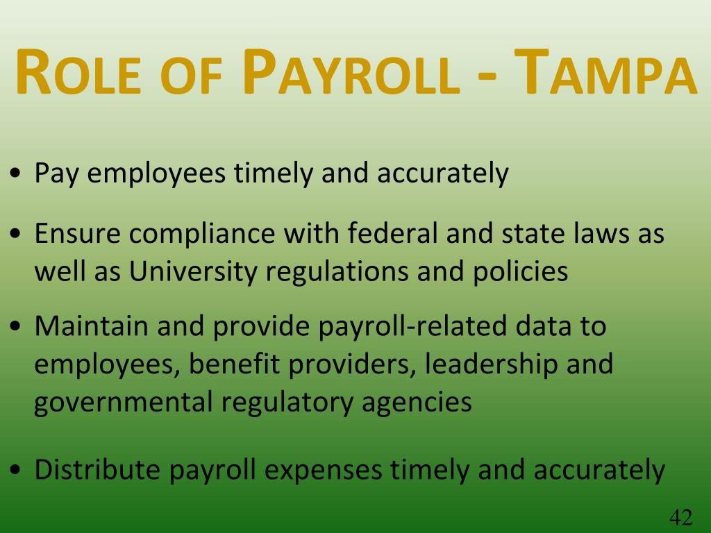 Role of Payroll - Tampa