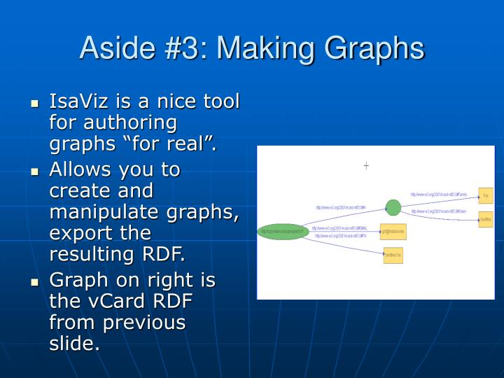 Aside #3: Making Graphs