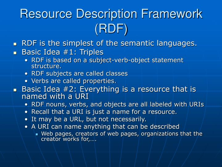 Resource Description Framework (RDF)