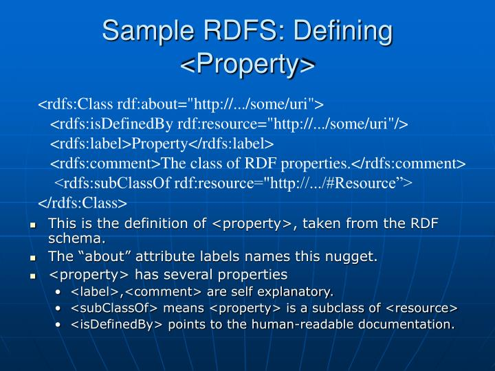 Sample RDFS: Defining <Property>