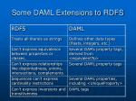 some daml extensions to rdfs