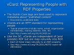 vcard representing people with rdf properties