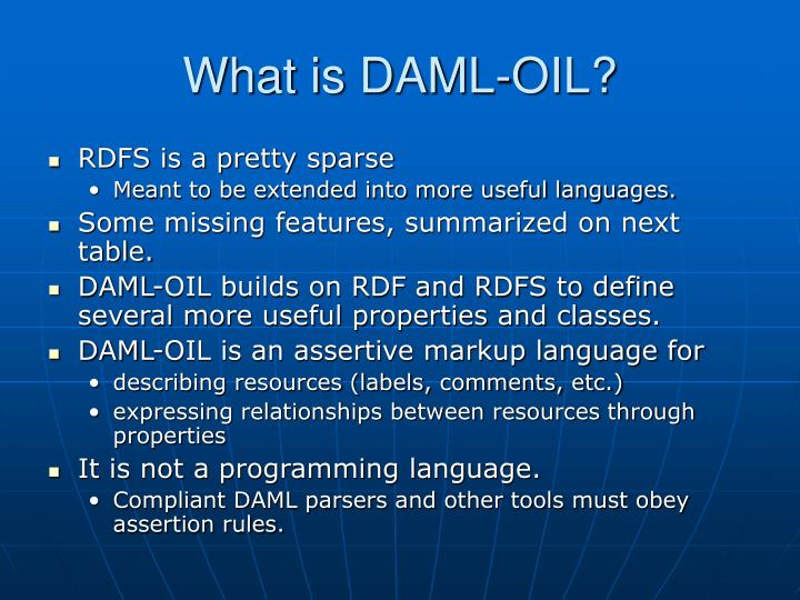 What is DAML-OIL?
