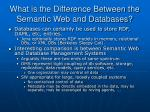 what is the difference between the semantic web and databases