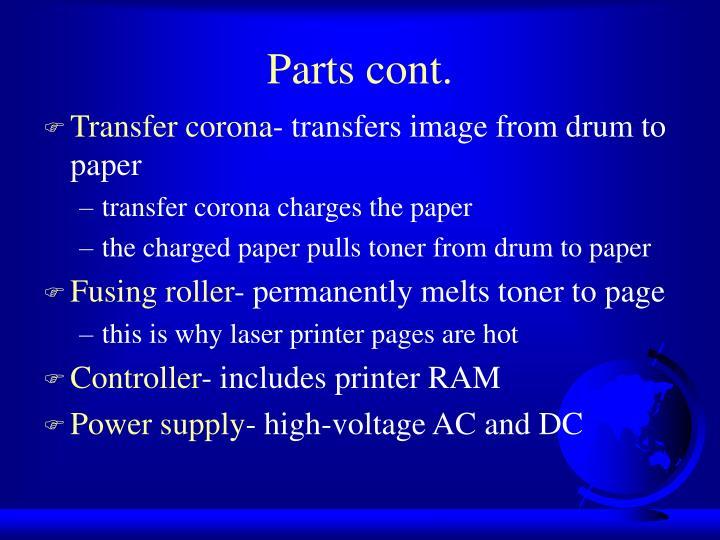 Parts cont.
