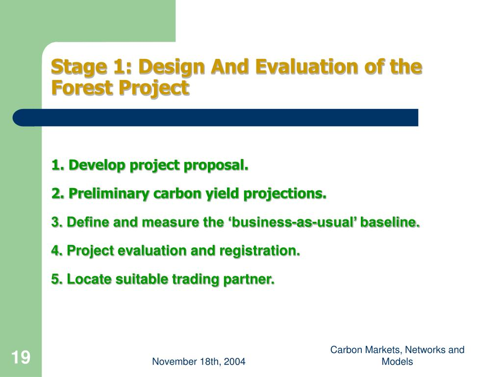 Stage 1: Design And Evaluation of the Forest Project