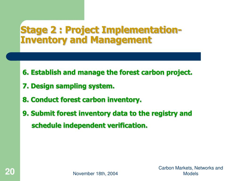 6. Establish and manage the forest carbon project.