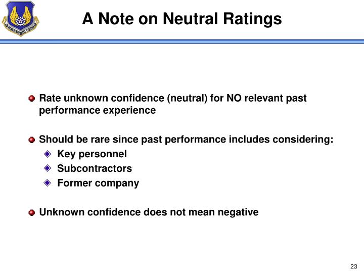 A Note on Neutral Ratings
