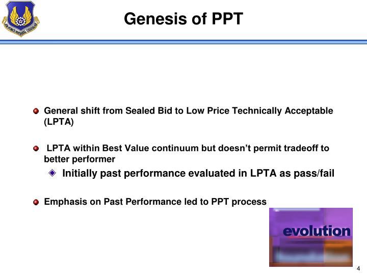 Genesis of PPT