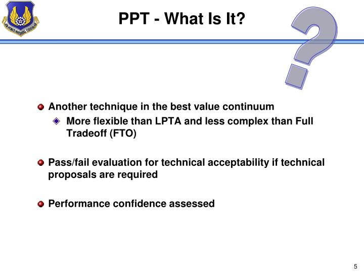 PPT - What Is It?