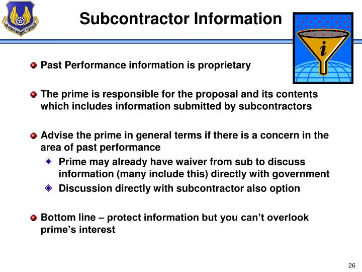 Subcontractor Information