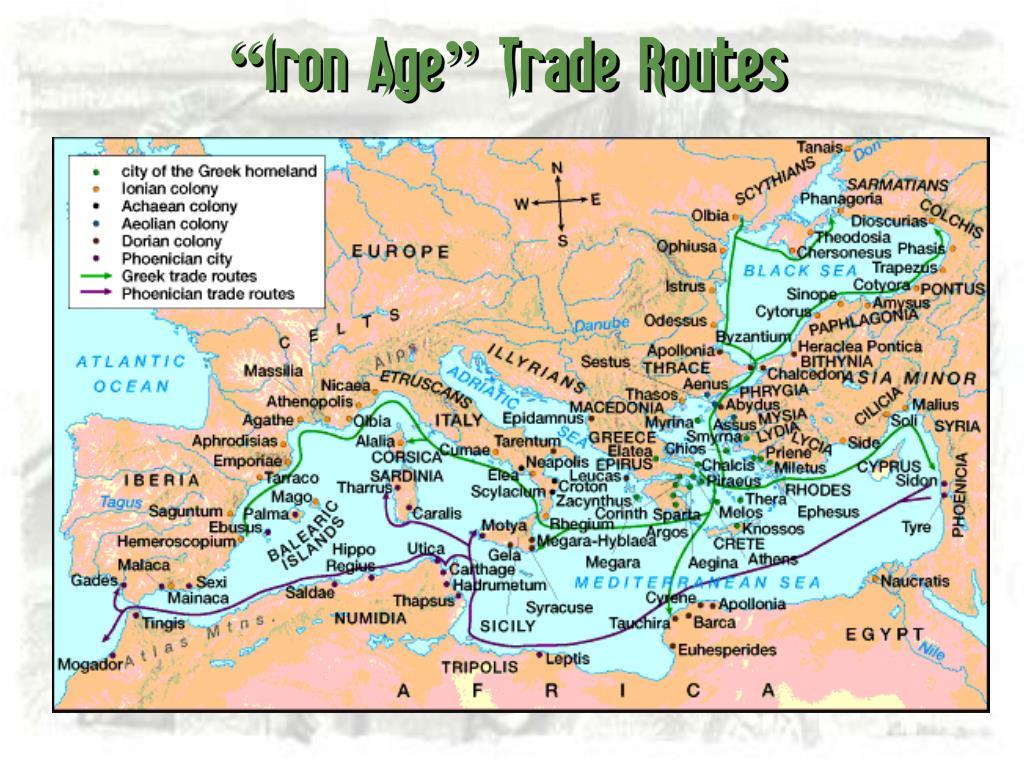 """""""Iron Age"""" Trade Routes"""