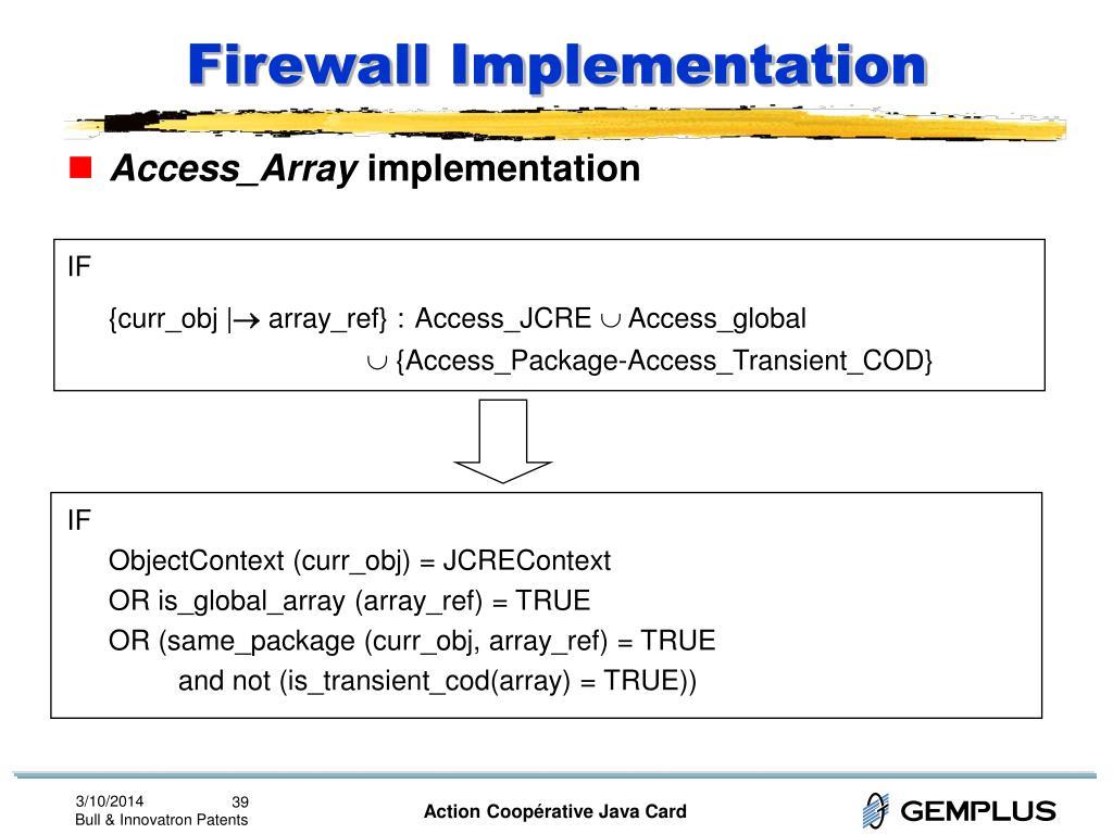 Firewall Implementation