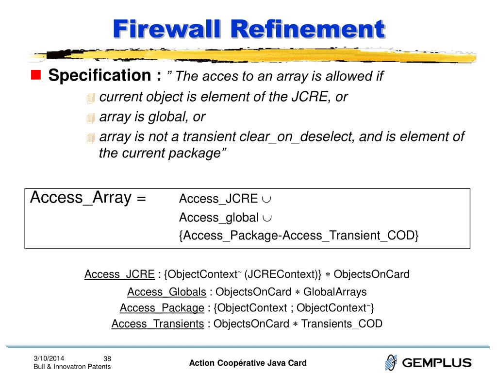 Firewall Refinement