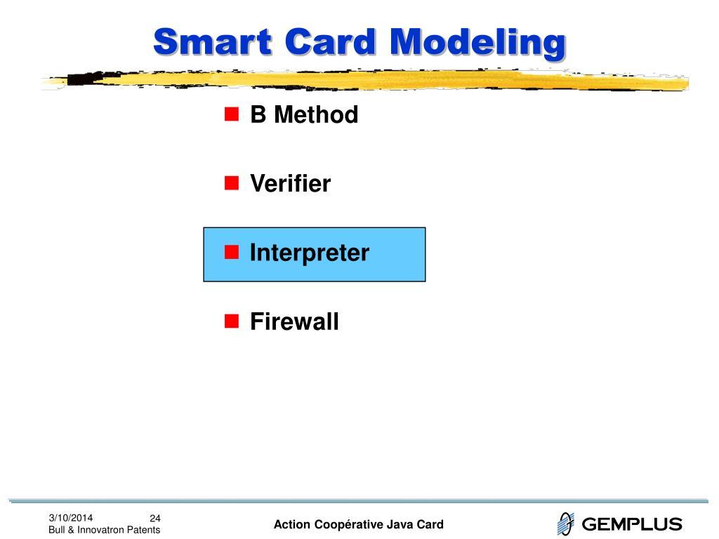 Smart Card Modeling